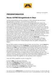 PRESSEINFORMATION Neues ALPINE B