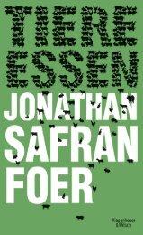 Jonathan Safran Foer Tiere essen