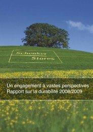 Rapport sur la durabilité 2008/2009 - Schenker Storen AG