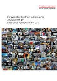 Jahresbericht 2010 - Solothurner Handelskammer
