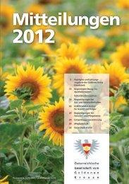 Mitteilungen 2012 - Goldenes Kreuz