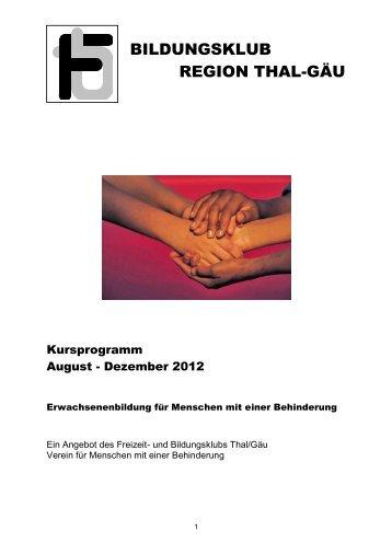 Download Kursprogramm HERBST 2012 - Freizeit- und ...