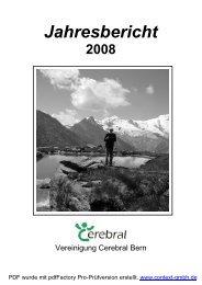 Jahresbericht 2008 - Vereinigung Cerebral