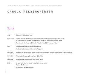 Vita als pdf downloaden (141 kb) - Carola Helbing-Erben