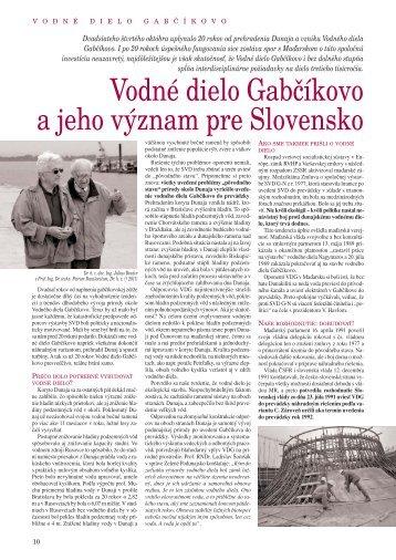 Vodné dielo Gabčíkovo a jeho význam pre Slovensko