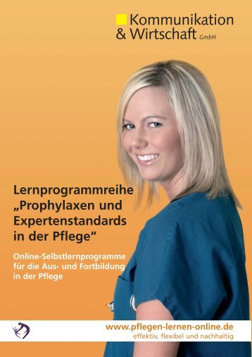 """Lernprogrammreihe """"Prophylaxen und Expertenstandards"""