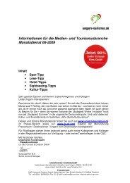 Informationen für die Medien- und Tourismusbranche ... - Ungarn