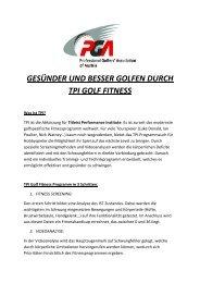 GESÜNDER UND BESSER GOLFEN DURCH TPI GOLF FITNESS