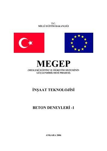 inşaat teknolojisi beton deneyleri -1 - Megep - Milli Eğitim Bakanlığı