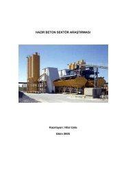 hazır beton sektör araştırması - ITO