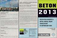 İNŞAAT, HAZIR BETON VE AGREGA SEKTÖRLERİ BETON 2013 ...