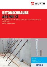 BETONSCHRAUBE ABS-WII ST - Würth