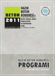 beton 2011 kongresi - Türkiye Hazır Beton Birliği