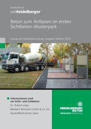 Informationen rund um Sicht- und Farbbeton - HeidelbergCement