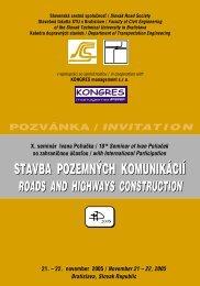 roads and highways construction - Slovenská cestná spoločnosť