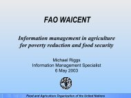 Information management in agriculture Food and ... - World Bank