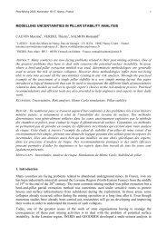 Modelling uncertainties in pillar stability analysis - gisos - Inpl