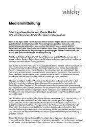 """Medienmitteilung Sihlcity präsentiert enea """"Verde Mobile"""""""