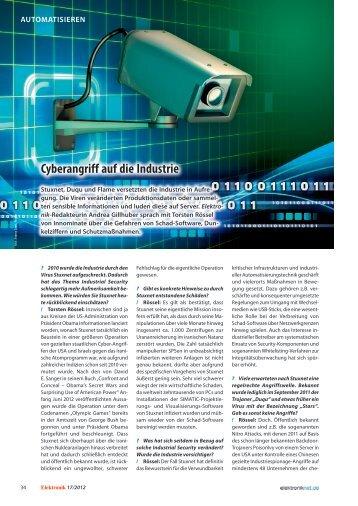 Cyberangriff auf die Industrie - Innominate