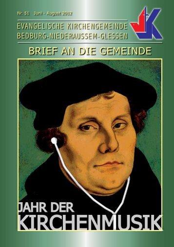 august 2012 - Evangelisch in Bedburg