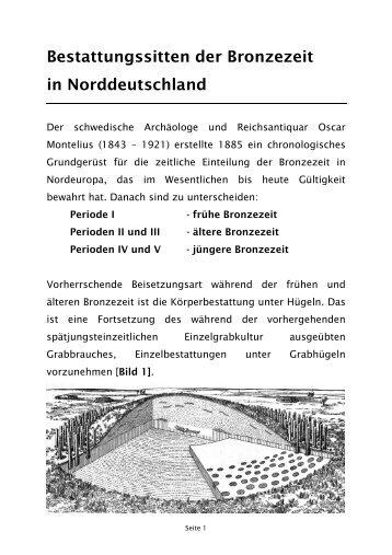 Bestattungssitten der Bronzezeit in Norddeutschland