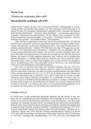 Internationella samlingar och arkiv (Världen i källaren)