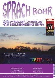 Sprach Rohr - Herzlich willkommen in der Bethlehem ...