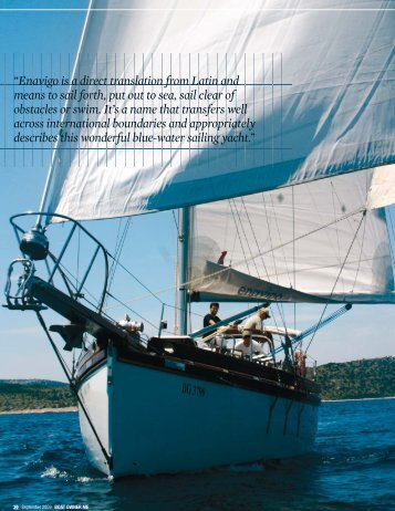 """Enavigo is a direct translation from Latin and means to sail forth, put ..."
