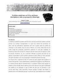 Systèmes numéraux en Grèce ancienne - Département de ...