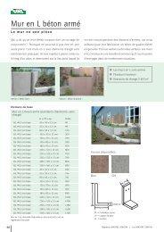 Mur en L béton armé - UHL Verbundstein AG