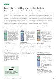 Produits de nettoyage et d'entretien - UHL Verbundstein AG