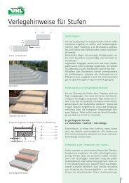 Verlegehinweise für Stufen - UHL Verbundstein AG