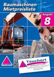 Baumaschinen Mietpreisliste - Teuchert Handels GmbH & Co.KG