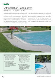 Schwimmbad-Randplatten