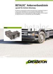 BETALOC® Ankerverbundstein - Creabeton Materiaux AG