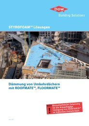 STYROFOAM™ Lösungen - Dow Building Solutions - The Dow ...