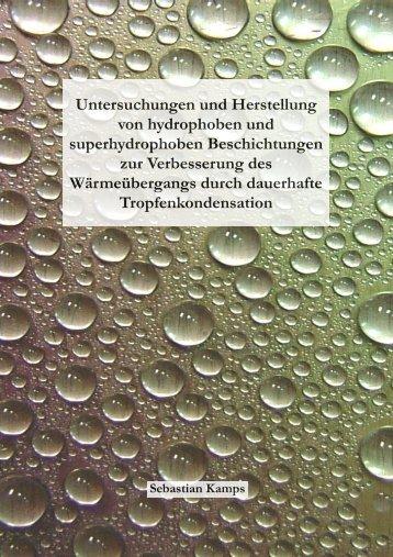 Untersuchungen und Herstellung von hydrophoben und ...