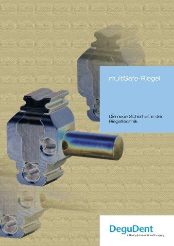 multiSafe Riegel Flyer