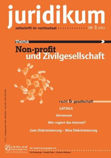 Non-profit und Zivilgesellschaft - juridikum, zeitschrift für kritik | recht ...