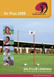 Ihr Plus 2008 - Golf Club Liebenau