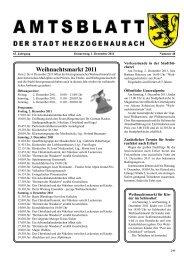 Weihnachtsmarkt 2011 - Stadt Herzogenaurach