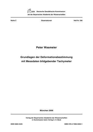 Peter Wasmeier Grundlagen der Deformationsbestimmung mit ...