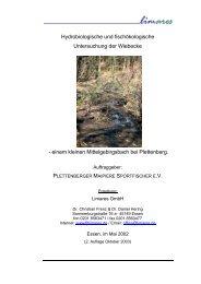 Hydrobiologische und fischökologische Untersuchung der Wiebecke
