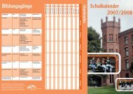 Schulkalender 2007/2008 Bildungsgänge - Berufskolleg für Technik ...
