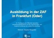 Ausbildung in der ZAF in Frankfurt (Oder) - Landesvermessung und ...