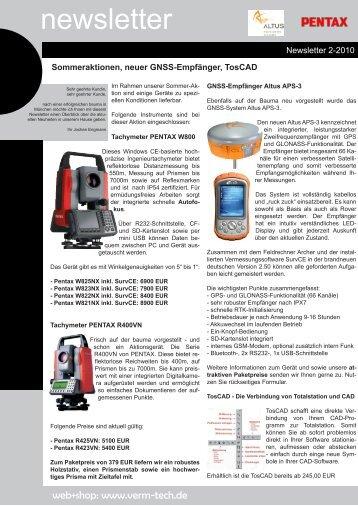 newsletter 2-2010.indd - Vermessungsladen.de