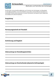 Die Varusschlacht Arbeitsblatt 3 Methoden und ... - Planet Schule