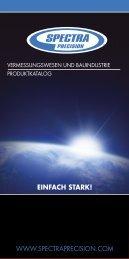 Allgemeiner SpectraPrecision Flyer - Vermessungsladen.de