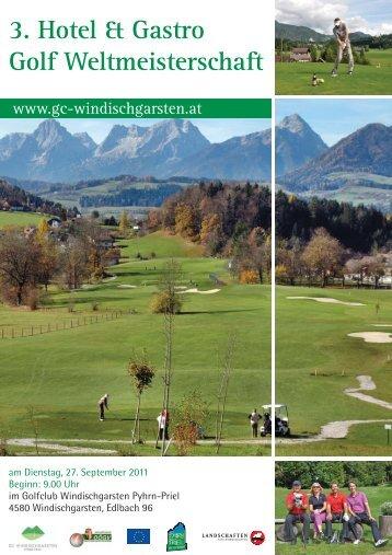 3. Hotel & Gastro Golf Weltmeisterschaft - Golfclub Pyhrn-Priel