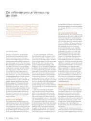 Die millimetergenaue Vermessung der Welt (pdf ... - Universität Bern